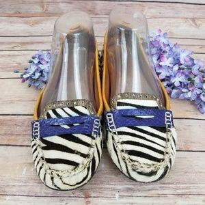 Sam Edelman 6 Flora Zebra Striped Loafers Shoes